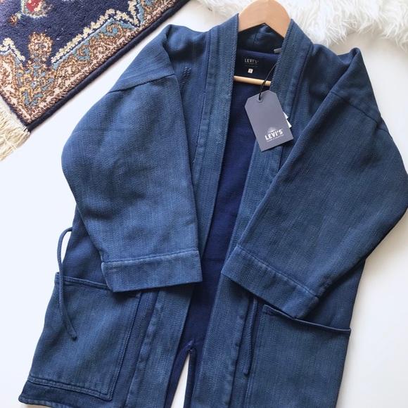 b5b15424924 LEVI S MADE   CRAFTED • Indigo kimono jacket